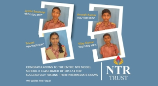 NTR Trust Sponsored Intermediate Student Toppers